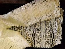"Vintage/Antique White Cotton Pattern Fabric 36"" X 26"""