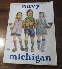 MICHIGAN VS NAVY FOOTBALL PROGRAM GAME PLAYED ON 10/10/1945 USED