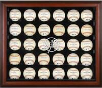 Yankees Logo Mahogany Framed 30-Ball Display Case - Fanatics