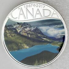 2017 $10 Celebrating Canada's 150th Coin Series: Peyto Lake 1/2 oz Pure Silver
