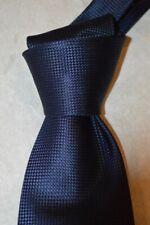 "$260 NWT TOM FORD Navy BLUE men's luxury 3.9"" Diamante woven Silk tie Italy"
