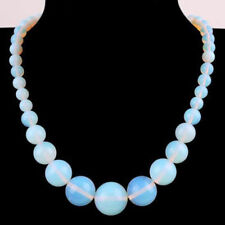 """6-14mm White Moonstone Opal Round Beads Jewelry Necklaces 18"""" AAA"""