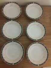 More details for rare wedgwood china 'harlequin' 6 bowls, 6