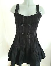 PHAZE GOTHIC BLACK DRESS LACE 12 18 20