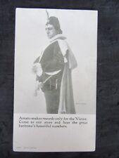 Antique 1914 Pasquale Amato Victor Advertising Postcard, Bratton's Music Store