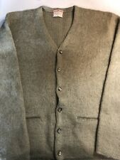 Vintage Mohair Sweater Cardigan Sz M Cobain McGregor Green EUC 60s Grunge