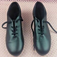 Capezio Womens Size 12.5 M Tele Tone Black Leather Lace up Tap Shoes CG17 #S254