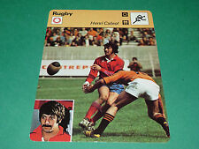HENRI CABROL AS BEZIERS-RC NARBONNE 1974  FICHE RUGBY