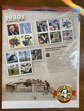 Década de 1930 celebrar el siglo Hoja de quince 32 Centavos Estampillas Postales Nuevo, Sellado