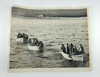 ORIGINAL 1944 Photo U.S. Coast Guard Captured 28 Nazi Soldiers Greenland