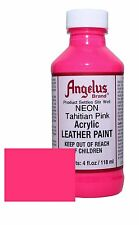 Angelus Acrylic Leather Paint for Shoes / Sneakers - Neon Tahitian Pink - 4oz