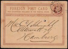 Great Britain & Ireland 1881 Stationery Card London Hamburg