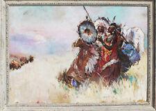 Pal Fried Indianer Häuptling Sioux Dakota Büffel Bison Jagd Prärie Wilder Westen