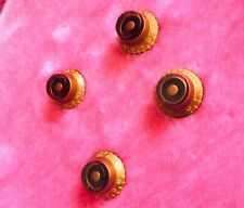 Gibson Les Paul Vintage Knobs Amber For R9 R8 Pre Historic 80s