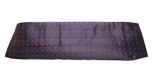 DOLCE & GABBANA Cummerbund Black Waist Tuxedo Smoking Belt s. IT50 / L