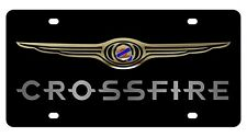 New Chrysler Crossfire Gold Logo Acrylic License Plate
