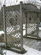 ANTIQUE ARCHITECTURAL GARDEN WOOD ARCH PERGOLA SWING TRELLIS GAZEBO YARD DECK