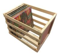 18 inch Vinyl Record Storage Crate - Album, LP, Record Storage and Display
