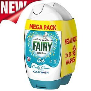 48 Washes 1.8L Fairy Non Bio Washing Liquid Gel Laundry Detergent Sensitive Skin