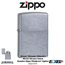 Zippo Street Chrome Finish Lighter, Regular, Genuine USA Windproof #207