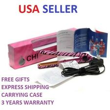 "CHI PRO 1"" Ceramic Flat Iron Hair Straightener Professional Iron PINK ZEBRA NEW"