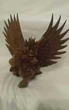 Amazing Rare Hand Carved Wood Dragon * Unknown Age & Make !!