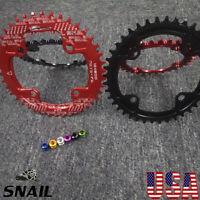 32-42t 104BCD Round Oval Narrow Wide Chainring MTB Bike Chainwheel Chain Guard