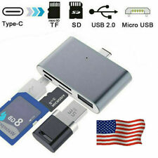 4 In 1 USB 3.1 Type C to Micro USB 3.0 OTG Adapter & SD/TF Micro SD Card Reader