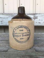 Rare Antique Ponchatoula Louisiana Stoneware Advertising Jug La 1/2 Gallon