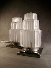 PAIRE DE LAMPES BUILDING MODERNISTE ART DECO SKYSCRAPER  – GRATTE-CIEL 1930