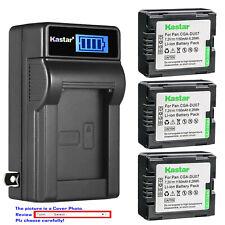 Kastar Battery LCD Wall Charger for Panasonic CGR-DU07 CGADU07 NV-GS230 NV-GS250