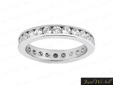 Eternity Band Ring 10k Gold Gh I1 Real 1.30Ct Round Cut Diamond Classic Wedding