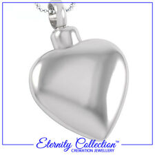NEW! ECN05 Eternity Collection Cremation Jewellery 'Silver Heart' Necklace