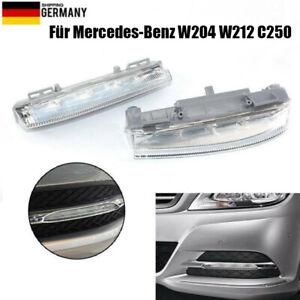 Paar Tagfahrlicht Blinkleuchte für Mercedes-Benz W204 W212 C250 A2049068900 DE