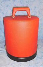 Vintage Hutschachtel Hutkoffer Koffer Perückenkoffer+ Kopf Rot 60/70er Vintage!