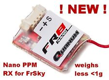 NEW! Quanum Nano FR8 PPM Sbus receiver for Frsky Transmitters micro RX only 0.8g