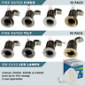 10 x Fire rated Tilt or Fixed LED Downlights GU10 Ceiling Spotlights FREE POST