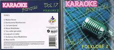 Karaoke CD+G Folklore 2 Francais Vol.17 CDG BRAND NEW, MusicaMonette from Canada