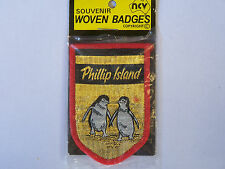 VINTAGE PHILLIP ISLAND PENGUINS EMBROIDERED PATCH WOVEN CLOTH BADGE SEW-ON