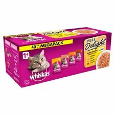 Whiskas 1+ Cat Pouch Pure Delight Poultry Jelly 40 x 85g - 262126