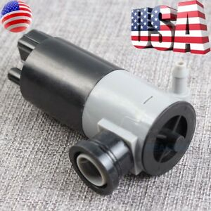 Windshield Wiper Washer Pump Motor for Lincoln Chrysler Dodge Ford F-150 Fusion