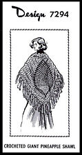 Unique PONCHO PANEL CAPE Knit Coat KNITTING Pattern Vtg MO Design 2-682 S-M-L