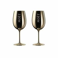 Moet & Chandon MC Imperial Champagne Gold Glass Goblets x 2!