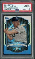 Mickey Mantle New York Yankees 2012 Topps Refractor Baseball Card #MBC1 PSA 10