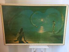 Vtg original 70s Wings of Love framed print kitsch retro N London Eastenders