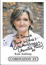 "CORONATION STREET - ""PAM HOBSWORTH"" - KATE ANTHONY - AUTOGRAPHED CAST CARD - COA"