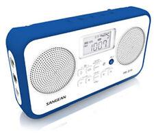 Sangean PR-D19 tragbares Radio (UKW-/MW-Tuner, Batterie/Netzbetrieb) weiß/blau