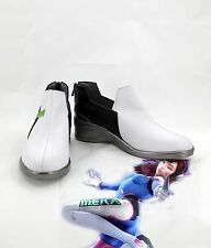 Overwatch D.VA Cosplay Costume Made PU Leather White Low heels Battle Shoes Hot