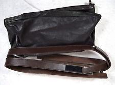 AF Vandevorst Handbag Foldover Bag Brown Leather Zip Strap