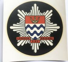 Single Crown GLC, London Fire Brigade soak & slide Fire Helmet Transfer Badge